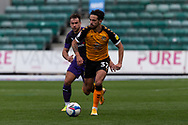 Newport County's Liam Shephard (32) in action during the EFL Sky Bet League 2 match between Newport County and Tranmere Rovers at Rodney Parade, Newport, Wales on 17 October 2020.