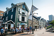 Privateers wharf on the waterfront of Halifax, Nova Scotia, Canada