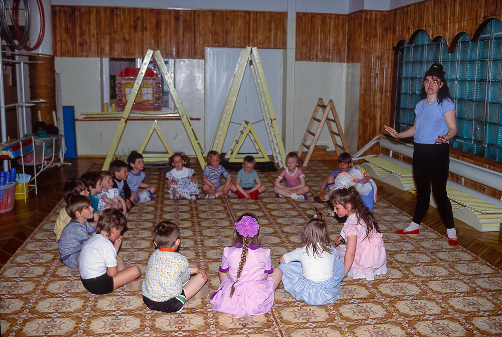 Kindergarten school, Seaport of Provideniya, Chukotsk Peninsula, Northeast Russia, 1992