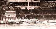 Peter Spurrier Sports Photo<br /> email pictures@rowingpics.com<br /> 44 (0) 7973 819 551<br /> Boat Race 2001<br /> <br /> Cambridge bow, Colin Swainson, struggles with his oar, after a clash of blades. [Mandatory Credit; Peter SPURRIER/Intersport Images]<br /> <br /> 20010324 University Boat Race, Putney to Mortlake, London, Great Britain.