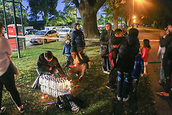 March 16, 2019 - Christchurch, Canterbury, New Zealand - People gather to light candles and place flowers to pay respect to the victims of the Christchurch mosques shooting. Around 50 people has been reportedly killed a terrorist attack onn two Christchurch mosques. (Credit Image: © Adam Bradley/SOPA Images via ZUMA Wire)