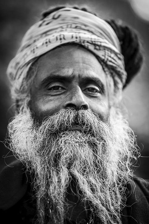 Portrait of Sadhu. Kathmandu, Nepal.<br /> Photo by Lorenz Berna