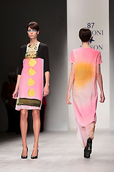 © Licensed to London News Pictures. 14/09/2012. London, England. Fashion designers Antoni & Alison kick off London Fashion Week with their catwalk show at Somerset House. Photo credit: Bettina Strenske/LNP