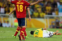 Neymar Jr. na partida entre Brasil e Espanha válida pela final da Copa das Confederações 2013, no estádio Maracanã, no Rio de Janeiro. FOTO: Jefferson Bernardes/Preview.com