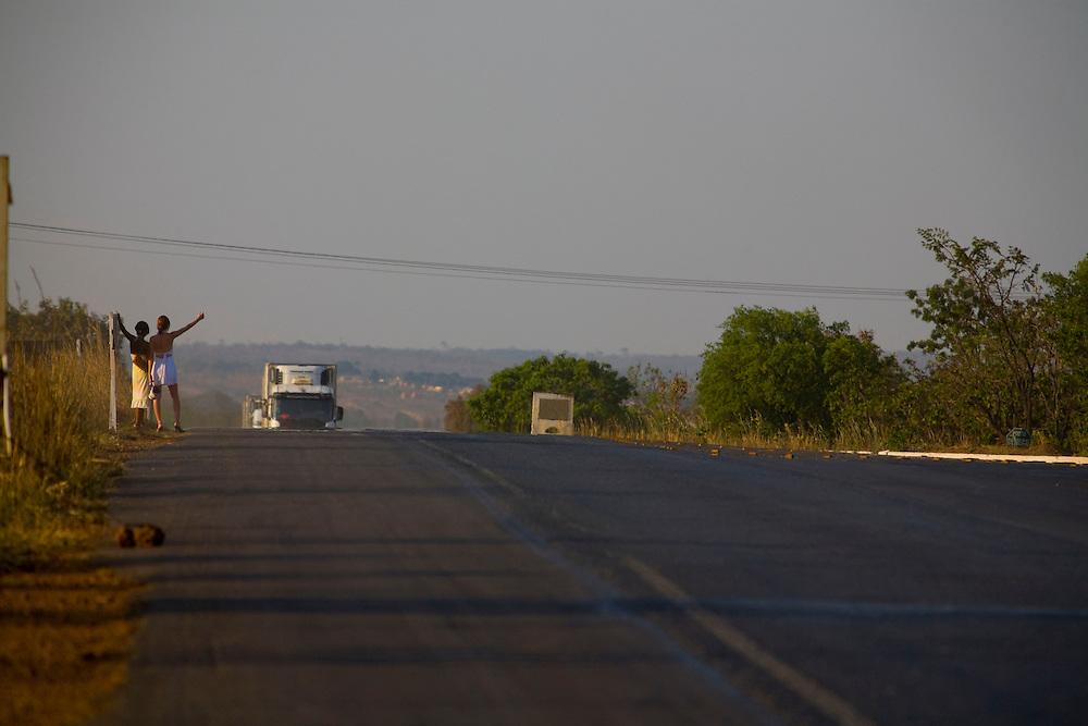 Curvelo_MG, Brazil.<br /> <br /> Garotas de programa as margens da BR 153 em Curvelo, Minas Gerais.<br /> <br /> Prostitutes in the higway BR 153 in Curvelo, Minas Gerais.<br /> <br /> Foto: LEO DRUMOND / NITRO
