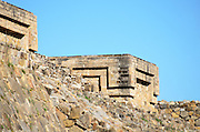 Architectural detail of Building H, Monte Alban archaeological site, Oaxaca.