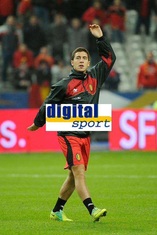 FOOTBALL - FRIENDLY GAME 2011 - FRANCE v BELGIUM - 15/11/2011 - PHOTO JEAN MARIE HERVIO / DPPI - EDEN HAZARD (BEL) DURING TRAINING