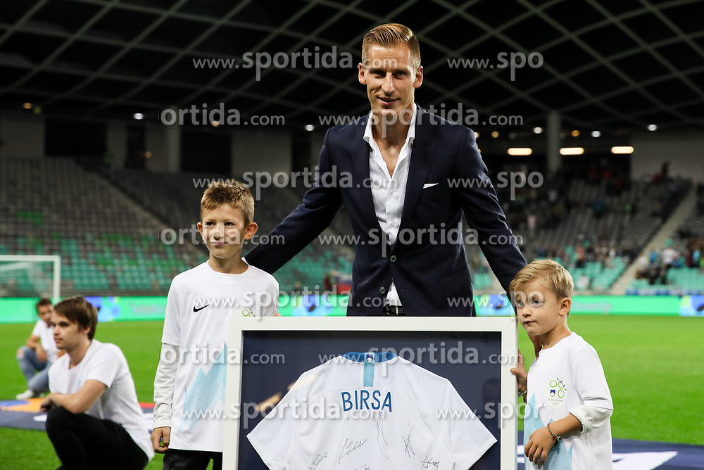 Radenko Mijatovic, president of NZS and Valter Birsa prior to the football match between National Teams of Slovenia and Bulgaria in Final Tournament of UEFA Nations League 2019, on September 6, 2018 in SRC Stozice, Ljubljana, Slovenia. Photo by Morgan Kristan / Sportida