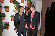 DAMON ALBARN; RUFUS NORRIS, Damon Albarn Dr Dee party  after the opening night at London Coliseum. Party at the St. Martin's Lane Hotel. 25 June 2012.