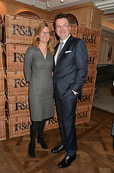 KATE HOBHOUSE Chairman of Fortnum & Mason and EWAN VENTERS Fortnum & Mason's CEO at a party to celebrate the publication of 'Let's Eat meat' by Tom Parker Bowles held at Fortnum & Mason, Piccadilly, London on 21st October 2014.