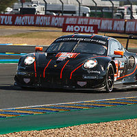 #86, Porsche 911 RSR, Gulf Racing, drivers: Ben Barker, Michael Wainwright, Andrew Watson, LM GTE Am, at the Le Mans 24H, 2020