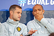 Belgian assistant coaches Shaun Maloney and Thierry Henry before the International Friendly match between Scotland and Belgium at Hampden Park, Glasgow, United Kingdom on 7 September 2018.