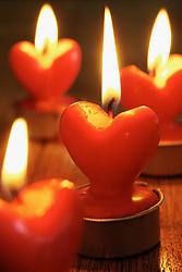 Dec. 05, 2012 - Heart shaped candles (Credit Image: © Image Source/ZUMAPRESS.com)