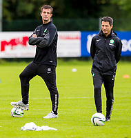 10/07/14      <br /> CELTIC TRAINING<br /> AUSTRIA<br /> Celtic manager Ronny Deila (left) with assistant John Collins