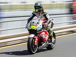 October 20, 2017 - Melbourne, Victoria, Australia - British rider Cal Crutchlow (#35) of LCR Honda in pit lane the first free practice session of the MotoGP class at the 2017 Australian MotoGP at Phillip Island, Australia. (Credit Image: © Theo Karanikos via ZUMA Wire)