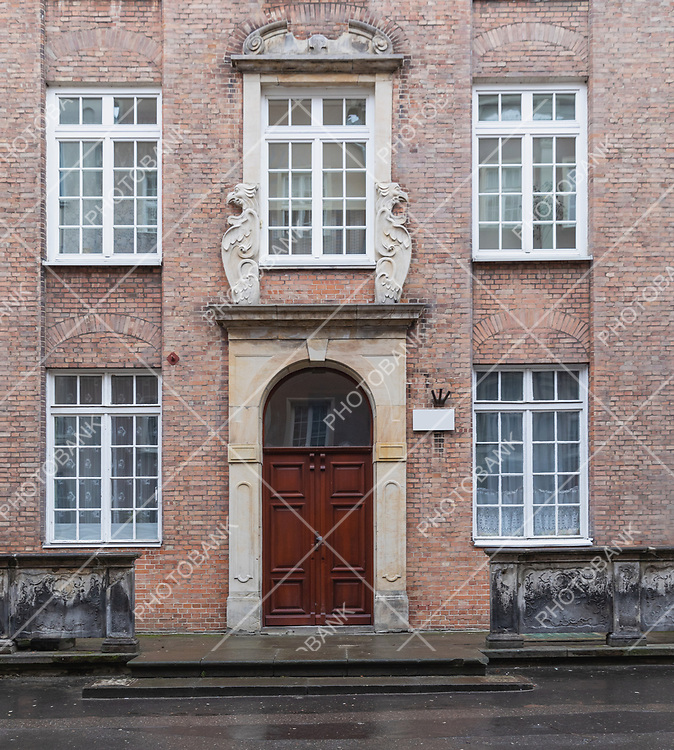 Detail of an old house facade in Gdansk