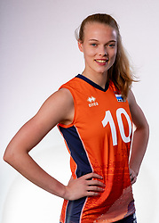 Iris Vos of Netherlands, Photoshoot selection of Orange women's youth volleybal team season 2021on june 15, 2021 in Arnhem, Netherlands (Photo by RHF Agency/Ronald Hoogendoorn)