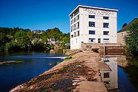 France, Indre (36), Argenton-sur-Creuse, moulin du Rabois,  centre d'art contemporain // France, Indre (36), Argenton-sur-Creuse, center of contemporary art, Moulin du Rabois