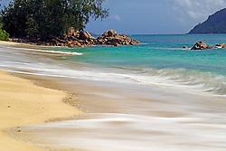 21.07.2015, Insel Praslin, SYC, auf den Seychellen, im Bild Strand und Granitfelsen am Anse Possession, Langzeitbelichtung // Holiday on the Seychelles at the Insel Praslin, Seychelles on 2015/07/21. EXPA Pictures © 2015, PhotoCredit: EXPA/ Eibner-Pressefoto/ Schulz<br /> <br /> *****ATTENTION - OUT of GER*****