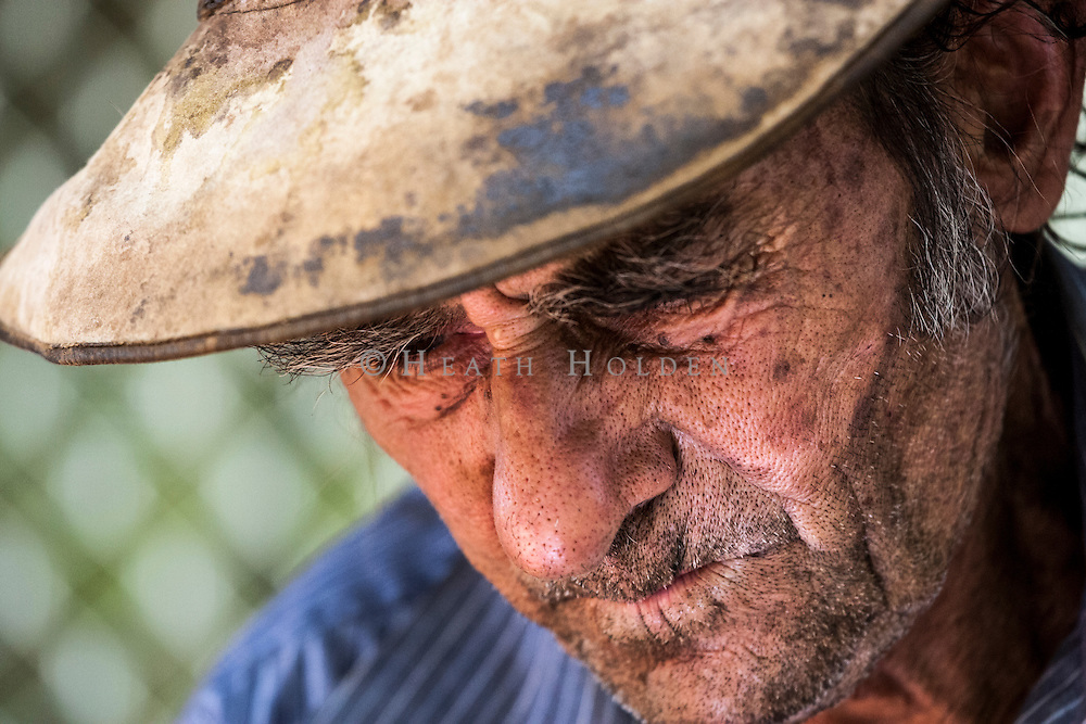 Portrait of local indigenous entertainer and gold prospector, Jimmy Hooker.