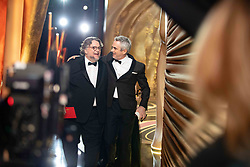 Guillermo del Toro and Oscar® winner Alfonso Cuarón backstage during the live ABC Telecast of The 91st Oscars® at the Dolby® Theatre in Hollywood, CA on Sunday, February 24, 2019.