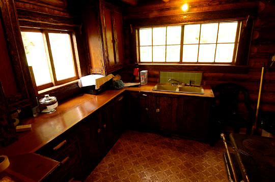 Recreation cabin on Wade Lake. Montana.