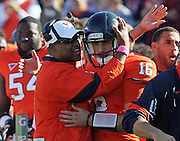 Oct. 15, 2011-Charlottesville, VA.-USA- Virginia Cavaliers head coach Mike London gives advice to Virginia Cavaliers quarterback Michael Rocco (16) during the ACC football game against Georgia Tech at Scott Stadium. Virginia won 24-21. (Credit Image: © Andrew Shurtleff