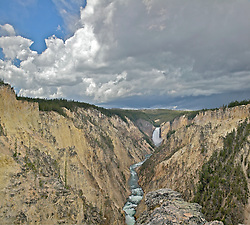 Lower Yellowstone Falls and the Grand Canyon of the Yellowstone River in Yellowstone National Park