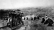 Austrian soldiers executing Serbian POWs in 1917, During the First world War