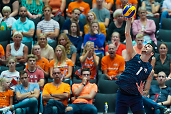 09-08-2019 NED: FIVB Tokyo Volleyball Qualification 2019 / Belgium 0 USA, Rotterdam<br /> First match pool B in hall Ahoy between Belgium vs. USA (1-3) for one Olympic ticket / Matthew Anderson #1 of USA