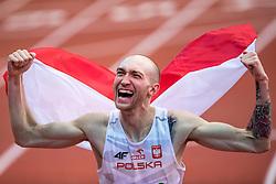 05-03-2017  SRB: European Athletics Championships indoor day 3, Belgrade<br /> Sylvester Bednarek POL pakt het goud op het onderdeel hoogspringen
