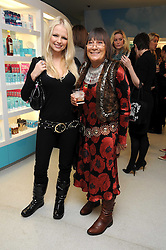 Left to right, HANNAH SANDLING and HILARY ALEXANDER at a party to celebrate the publication of Camilla Morton's book 'A Year in High Heals' held at Bliss Spa, 60 Slaone Avenue, London on 5th February 2009.