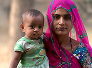 Mother and child from Rajasthan, India.