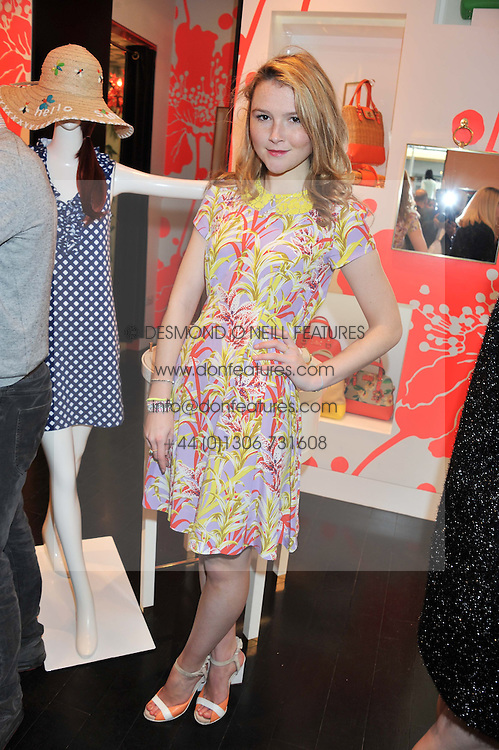 AMBER ATHERTON at the Kate Spade NY hosted Chelsea Flower Show Tea Party held at Kate Spade, 2 Symons Street, London on 23rd May 2013.