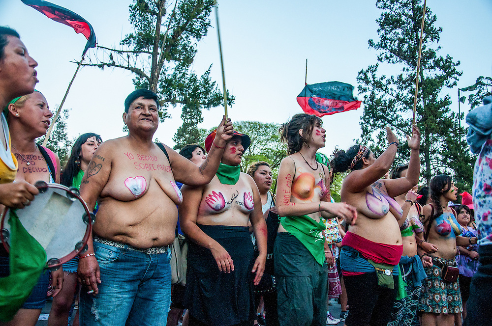 2014, Salta, Argentina. Women demonstrate in the streets of Salta's capital city during the XXX National Meeting of Women.