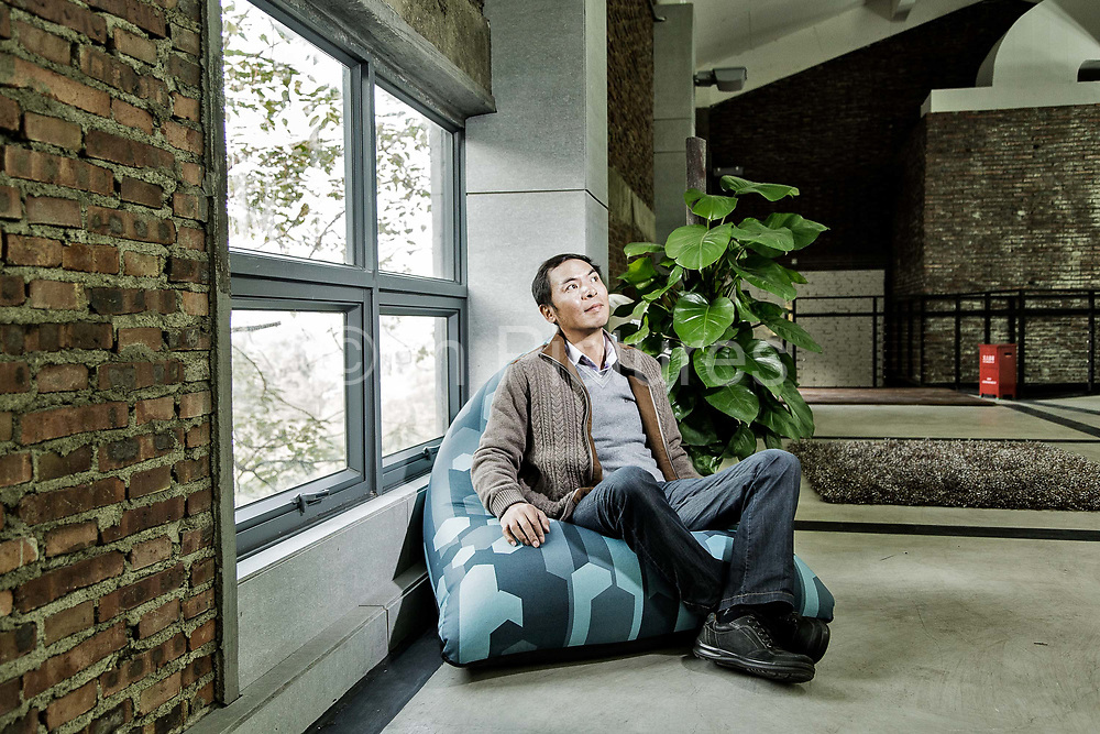 Allen Zhang, or Zhang Xiaolong, director of WeChat and vice-president of Tencent, photographed in Guangzhou, China on 24 December 2013. Wechat is quickly becoming China's favorite social media tool and have already started to erode the income of internet giants such as Sina's Weibo as well as telecommunication state monopolies like China Mobile and China Unicom.