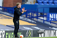 Bournemouth Manager Eddie Howe during the Premier League match between Everton and Bournemouth at Goodison Park, Liverpool, England on 26 July 2020.