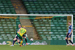 Teemu Pukki of Norwich City drags a shot wide - Mandatory by-line: Arron Gent/JMP - 24/10/2020 - FOOTBALL - Carrow Road - Norwich, England - Norwich City v Wycombe Wanderers - Sky Bet Championship