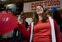 Fans Red Tigers celebrate 15 years of the group at 21st round of MIK 1st league handball match between RD Slovan and RK Prevent,  in Arena Kodeljevo, Ljubljana, Slovenia, on March 14, 2009.   (Photo by Vid Ponikvar / Sportida)