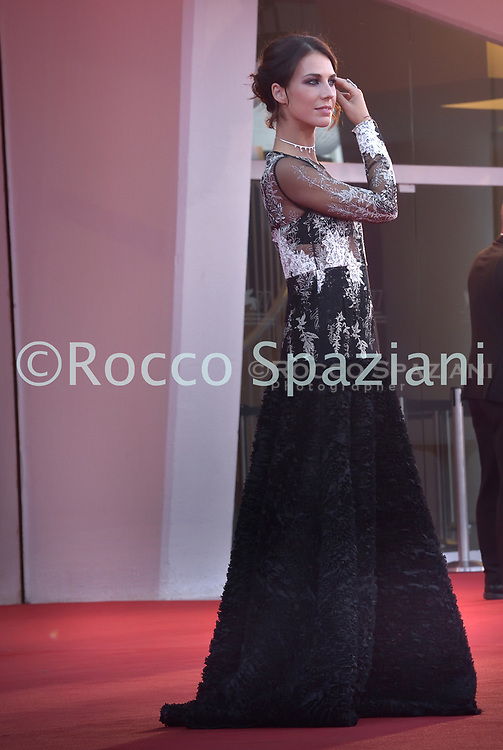 """VENICE, ITALY - SEPTEMBER 11:Michelle Carpente walks the red carpet ahead of the movie """"Nomadland"""" at the 77th Venice Film Festival on September 11, 2020 in Venice, Italy. (<br /> (Photo by Rocco Spaziani)"""