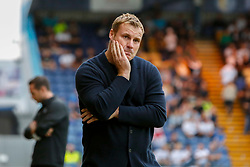 A dejected looking Mansfield Town manager David Flitcroft - Mandatory by-line: Ryan Crockett/JMP - 18/07/2018 - FOOTBALL - One Call Stadium - Mansfield, England - Mansfield Town v Derby County - Pre-season friendly