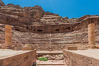 roman theater arena in Nabatean Petra Jordan middle east