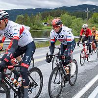Alexsander Kristoff passerer Byremo under Tour of Norway sykkelritt etappe 2: Lyngdal - Kristiansand.