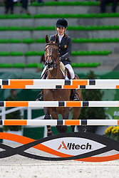 Paola Amilibia Puig, (ESP), Prunella D Ariel - Team & Individual Competition Jumping Speed - Alltech FEI World Equestrian Games™ 2014 - Normandy, France.<br /> © Hippo Foto Team - Leanjo De Koster<br /> 02-09-14