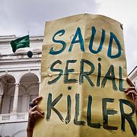 No War manifestano contro la decapitazione di Ali Al Nimr
