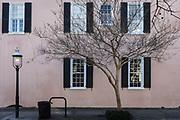 Historic Charleston housing  and architecture, South Carolina, USA.