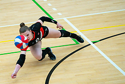 Florien Reesink of Apollo 8 in action during the first league match between Laudame Financials VCN vs. Apollo 8 on February 06, 2021 in Capelle aan de IJssel.