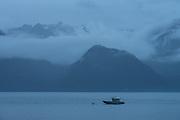 Fishing boat tied up on Resurrection Bay, Seward, Alaska