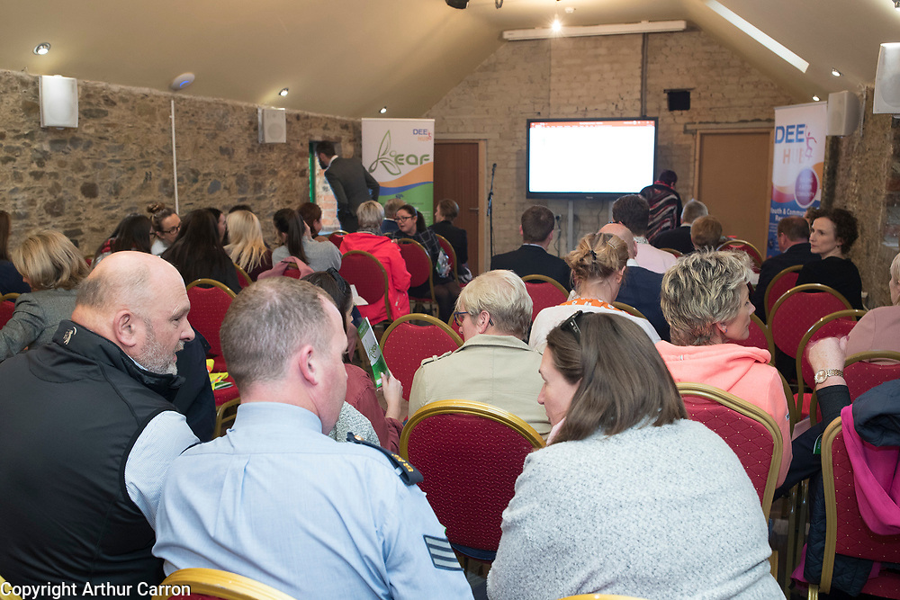 NO FEE PICTURES                                                                                                                                              9/10/19 Pictured are aT the launch of the International Fund for Ireland's New Leaf project at the Coach House, Dunleer with (IFI rep or New Leaf project rep). The special project aims to support the local community and young people in an area still suffering from the legacy of the Troubles and will be run by Ardee & District Community Trust in partnership with the Dunleer and District Community Development Board.Picture: Arthur Carron