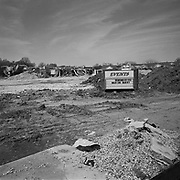 """Remembering Marion Barry"", Frank W. Ballou High School during demolition in the Congress Heights neighbourhood, Washington D.C., USA.<br /> <br /> (Credit Image: © Louie Palu/ZUMA Press)"